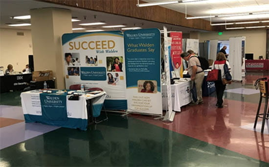 Walden booth at Community College CyberSecurity Summit (3CS)