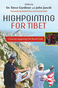 book cover - Highpointing for Tibet