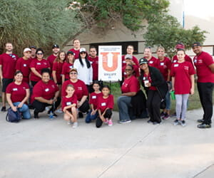 Partnering with United Way at a school in Tempe for children with developmental delays.