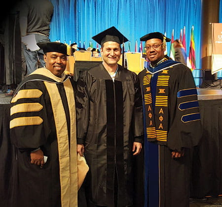 Dr. Sean Stanley, Dr. Michael Donaldson, and Dr. Walter McCollum