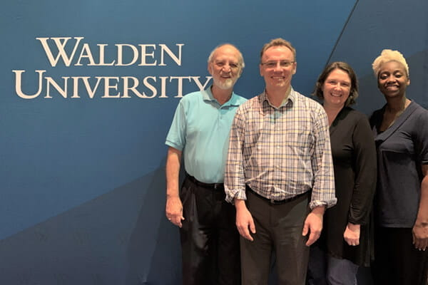 Dr. Steve Canipe, Eric Brosch, Dr. Jennifer Blessing and Neirda Lafontant