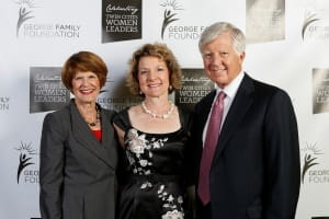 Dr. Cynthia Baum, center, with Penny and Bill George