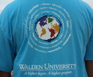 T-shirt showing Walden Global Day of Service logo.