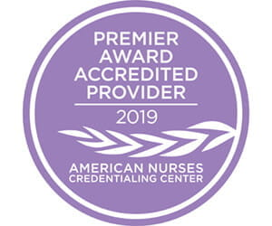 American Nurses Credentialing Center Premier Award Accredited Provider 2019 logo