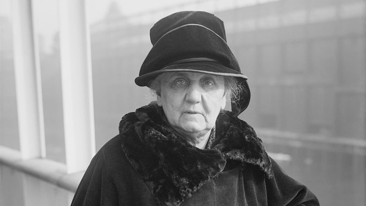 Jane Addams in later life.